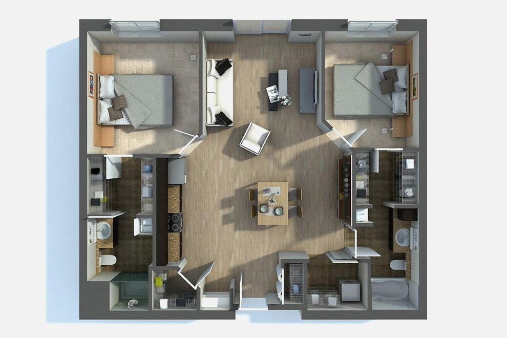 Floor Plan of an average home.