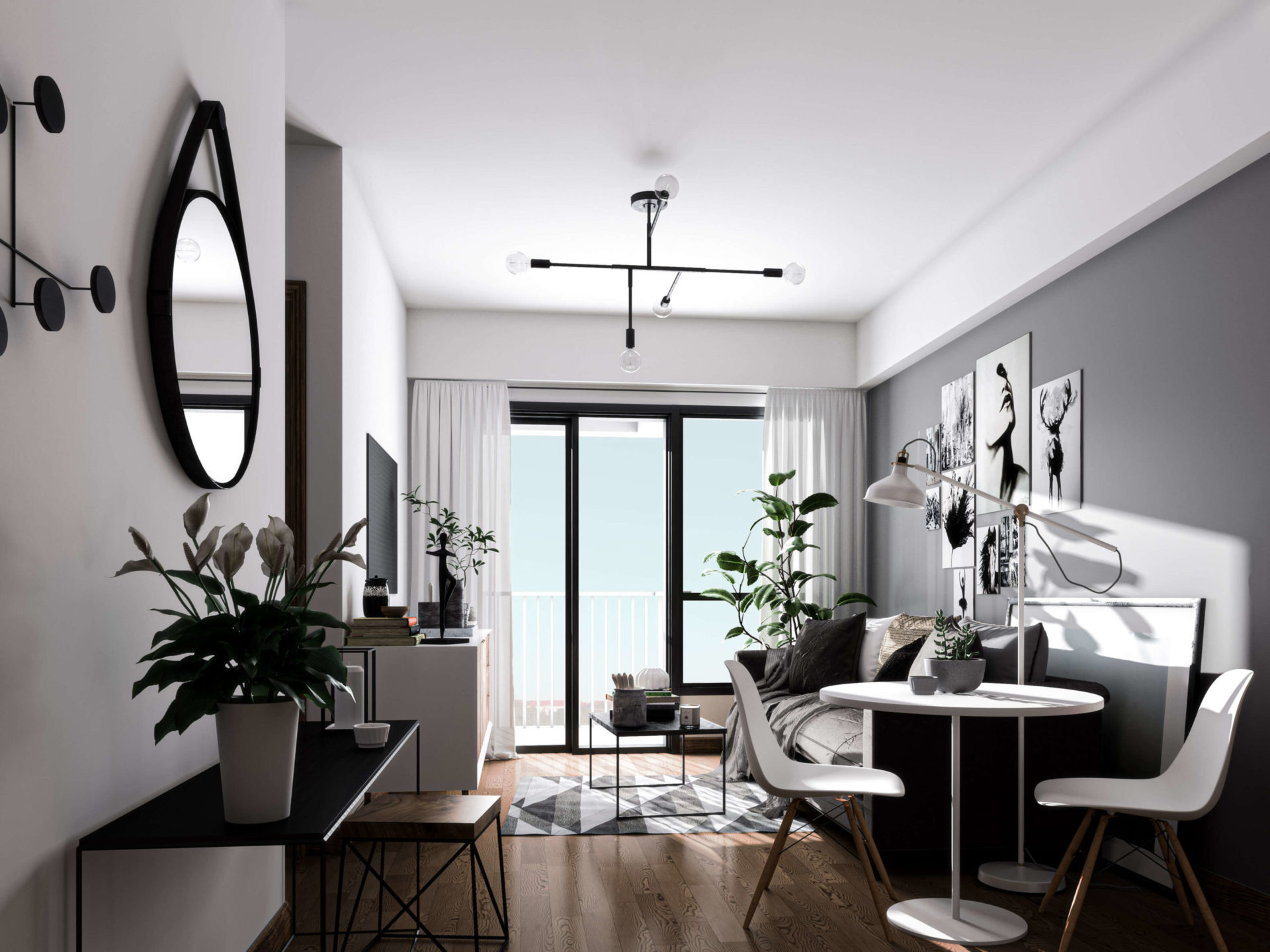 Rendering of an apartment in Miami.